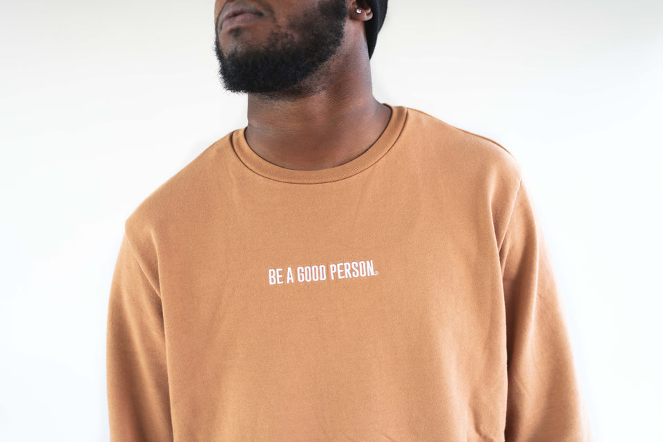 Mocha French Terry Long Sleeve Crewneck - Unisex