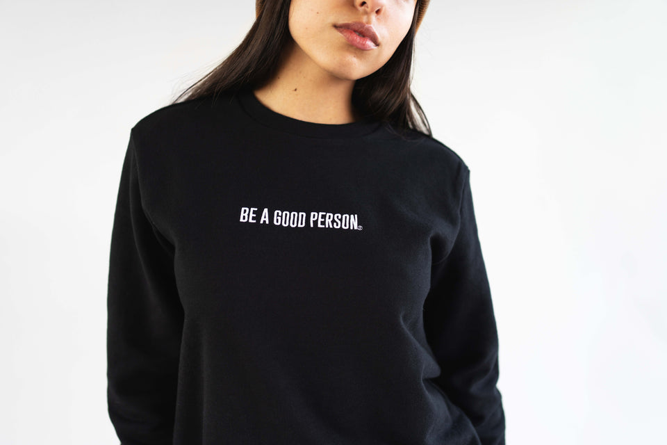 Signature Black French Terry Long Sleeve Crewneck - Unisex