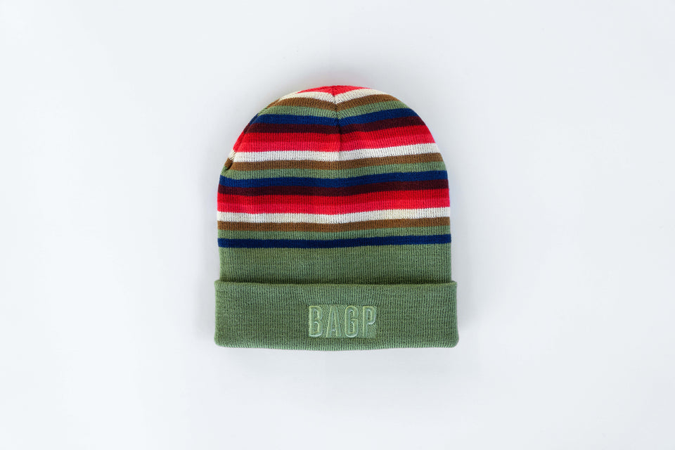 Reversible Patch Beanie - Moss Green