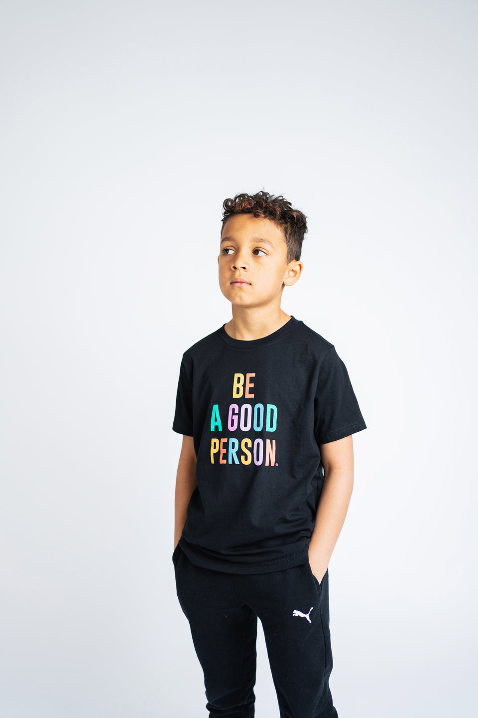 Black Color Spectrum Youth Shirt - Unisex