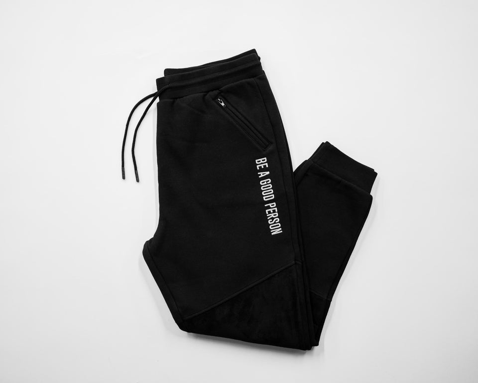 Reflective Midnight Black Joggers - Unisex