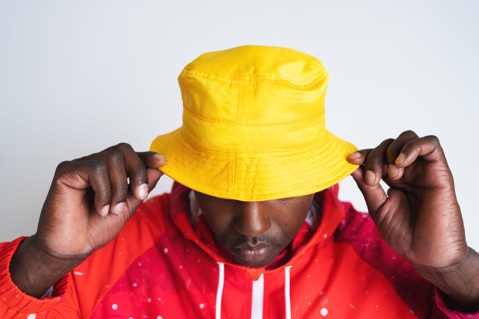 Detour 101 Reversible Bucket Hat - Orange/ Yellow