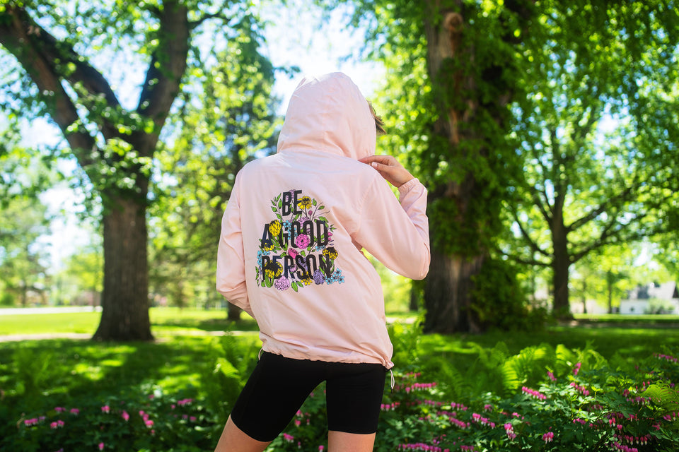 April Showers by Kirileigh - Half Zip Windbreaker - Blush pink - Unisex