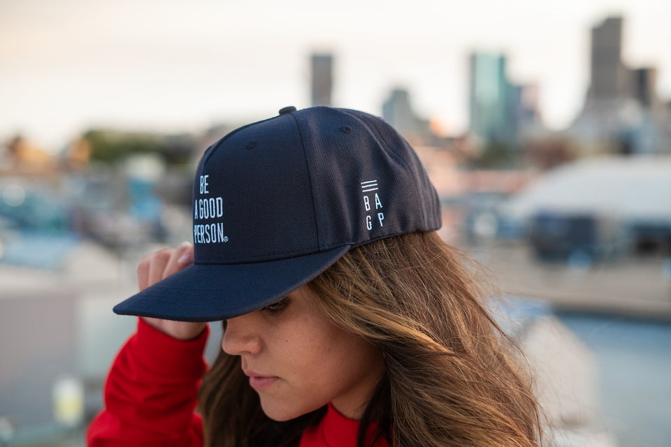 Navy Blue Snapback Hat