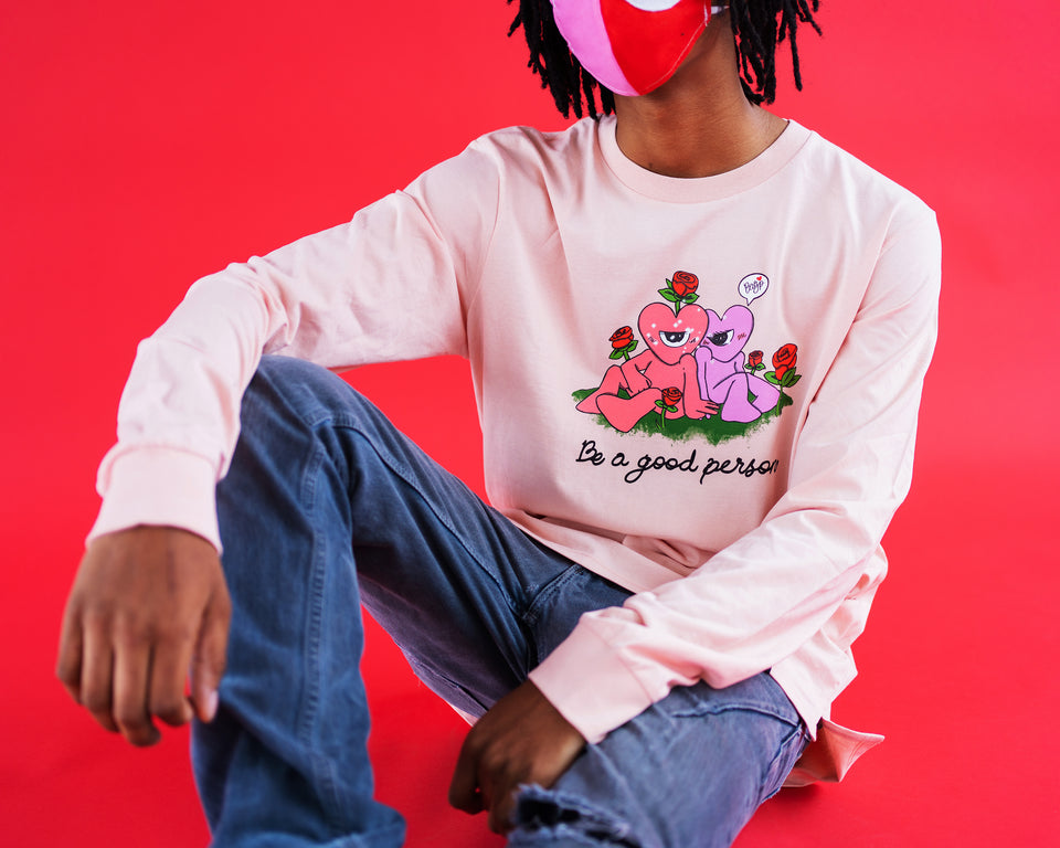 """Valentine's with Friends"" feat. Crispysz Long Sleeve Shirt - Unisex"
