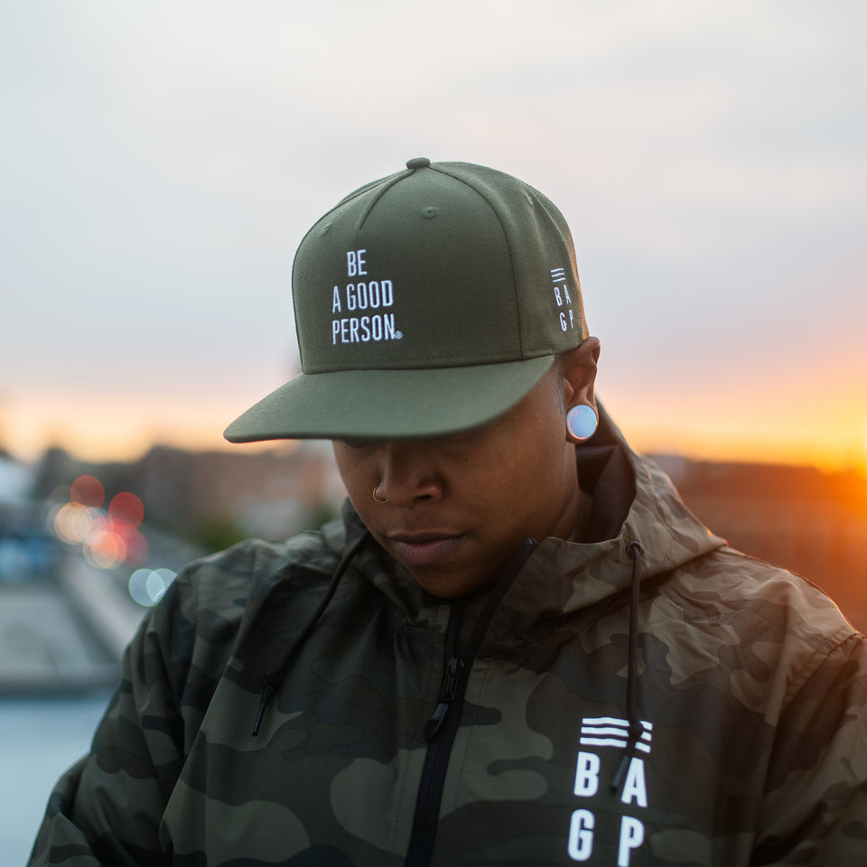 Army Green Snapback Hat