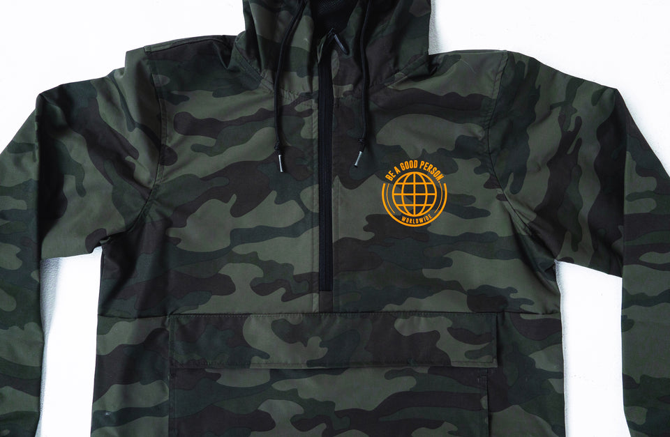 Camo Anorak Windbreaker Duck Orange - Unisex