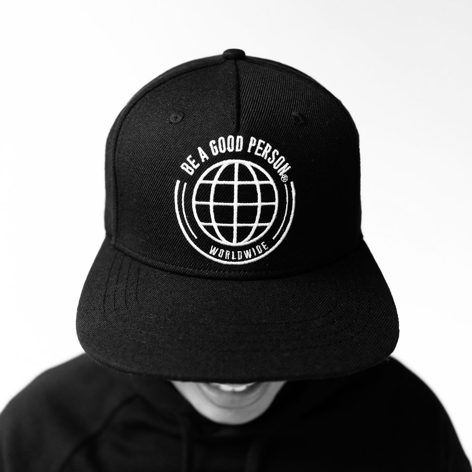 Black Worldwide Snapback Hat