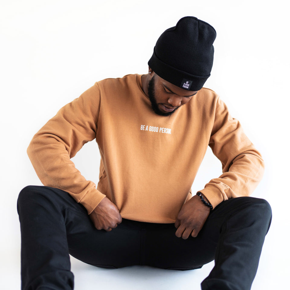 Mocha Long Sleeve Crewneck - Unisex