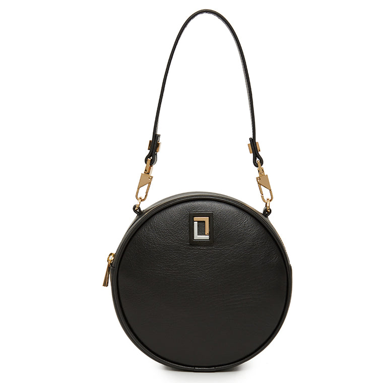Carla Round Bag in Ebony
