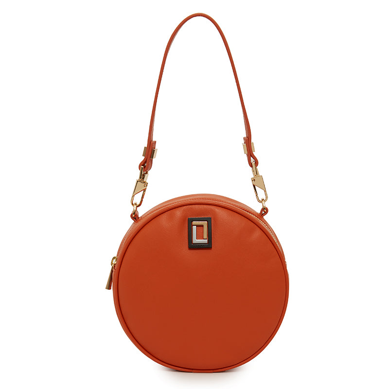 Carla Round Bag in Orange
