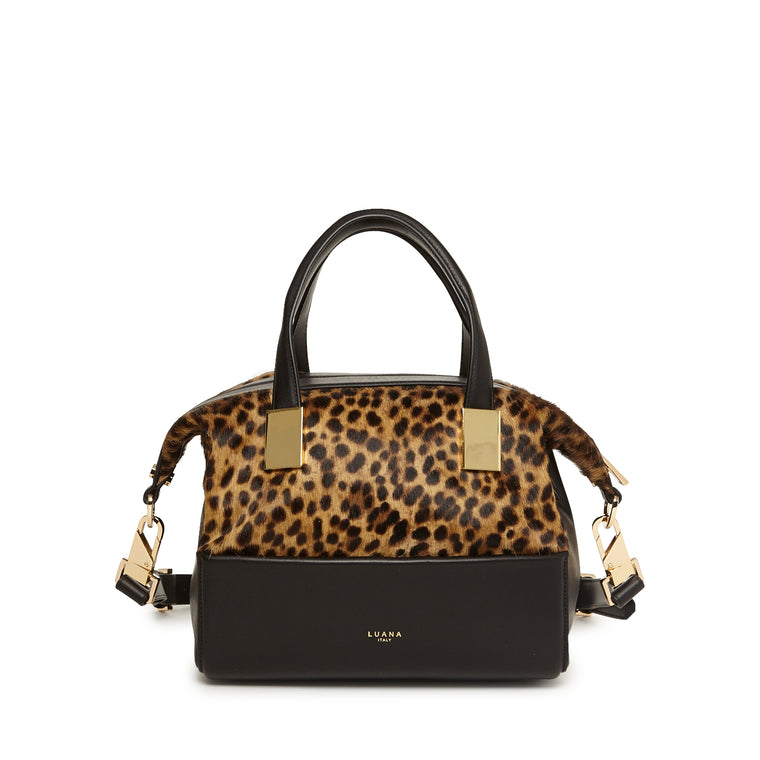 Circe Small Satchel Leopard HC