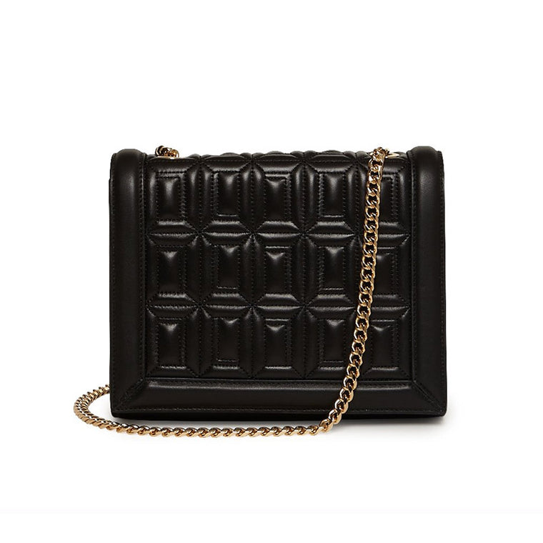 Devon Crossbody Ebony Quilted