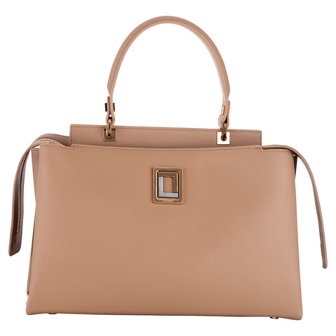 Double Zip Satchel Burro