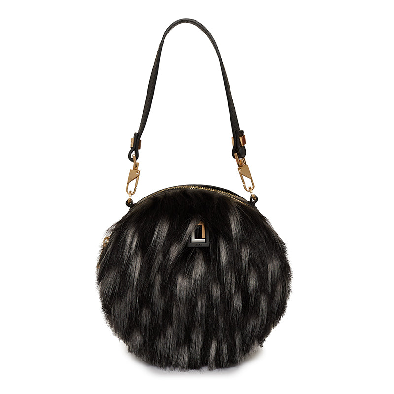 Carla Round Bag Ebony Fur