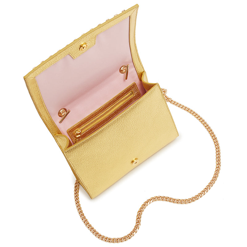 Devon Crossbody in Gold