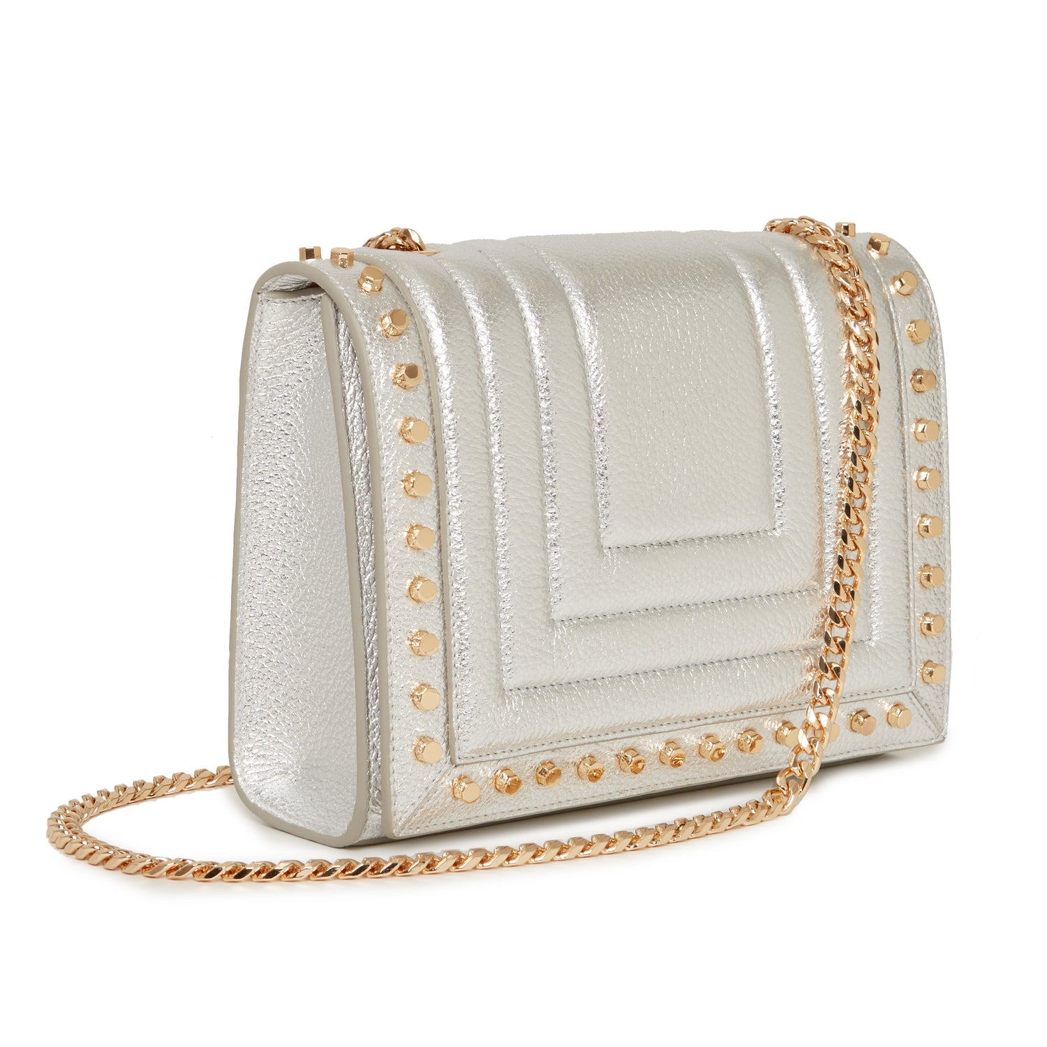 Devon Crossbody in Silver