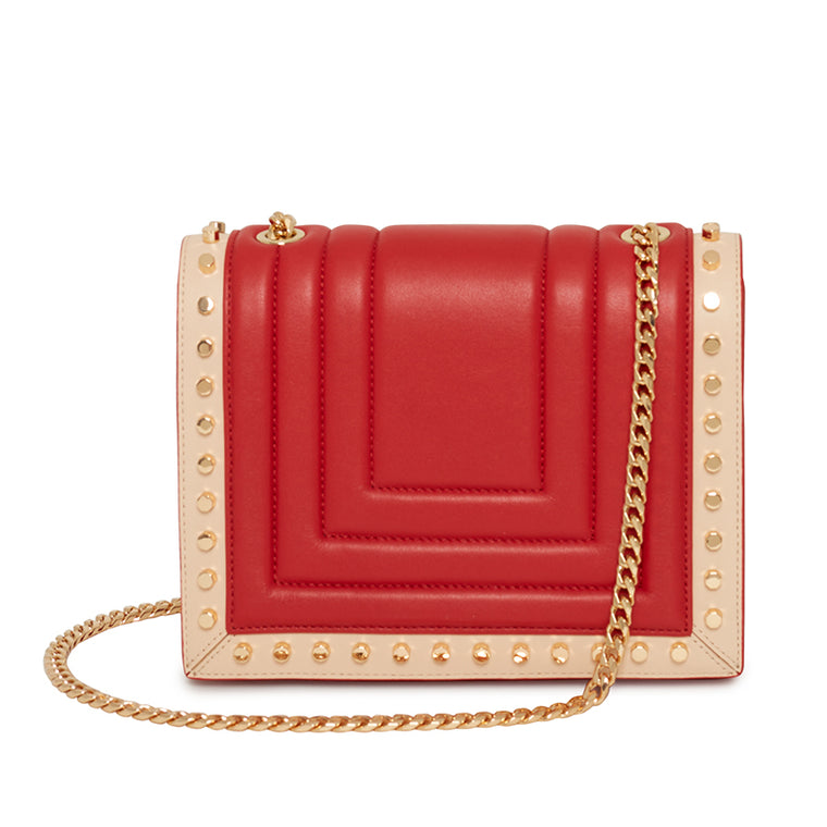 Devon Crossbody Two Tone Scarlet/Blush