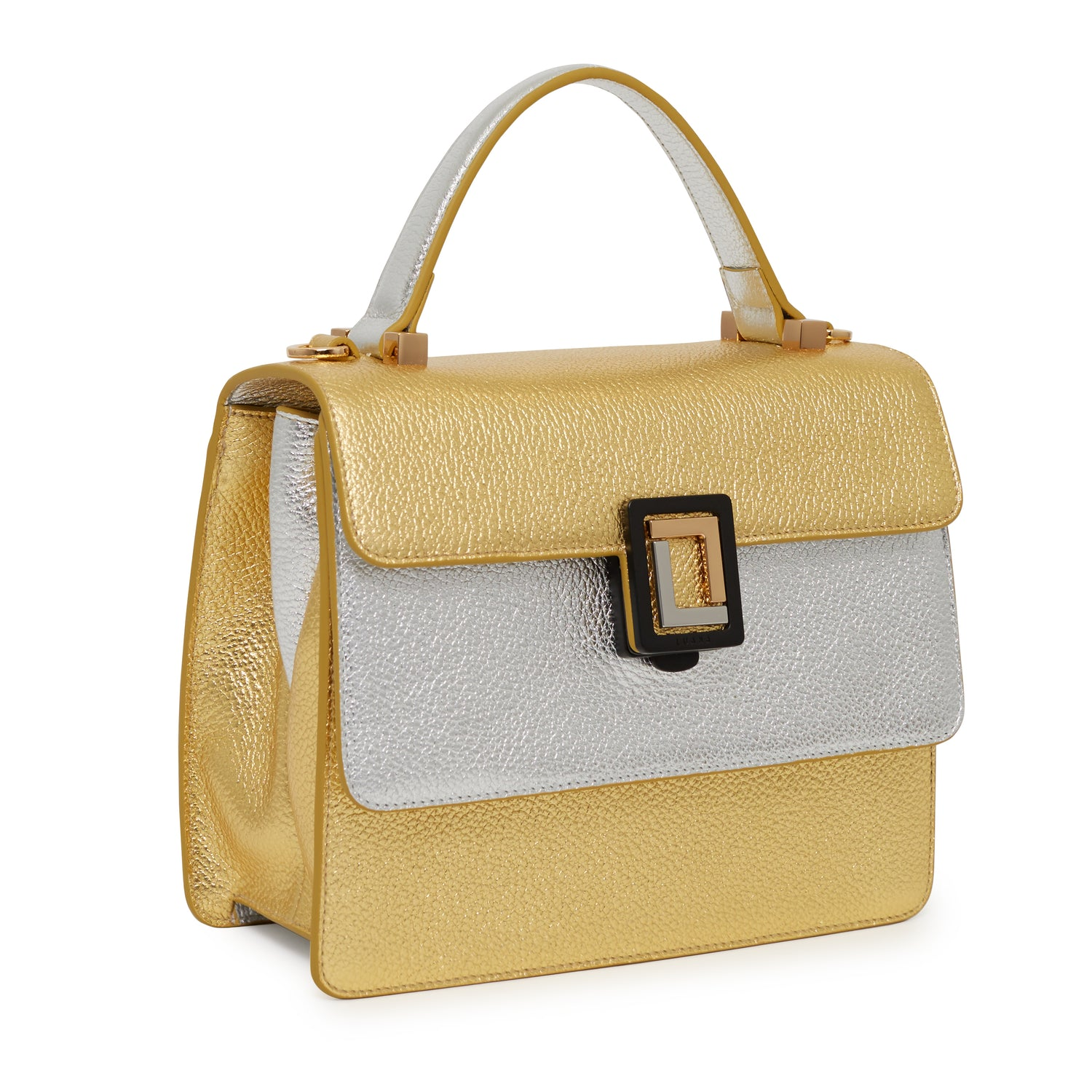 Maria Satchel in Gold/Silver