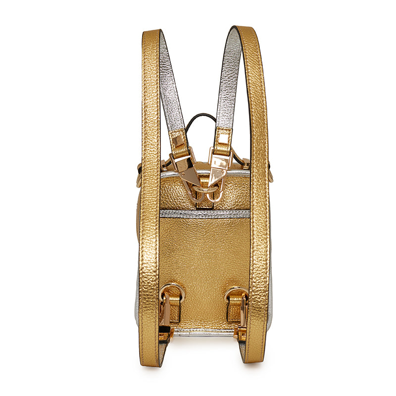 Margherita Mini Backpack in Gold