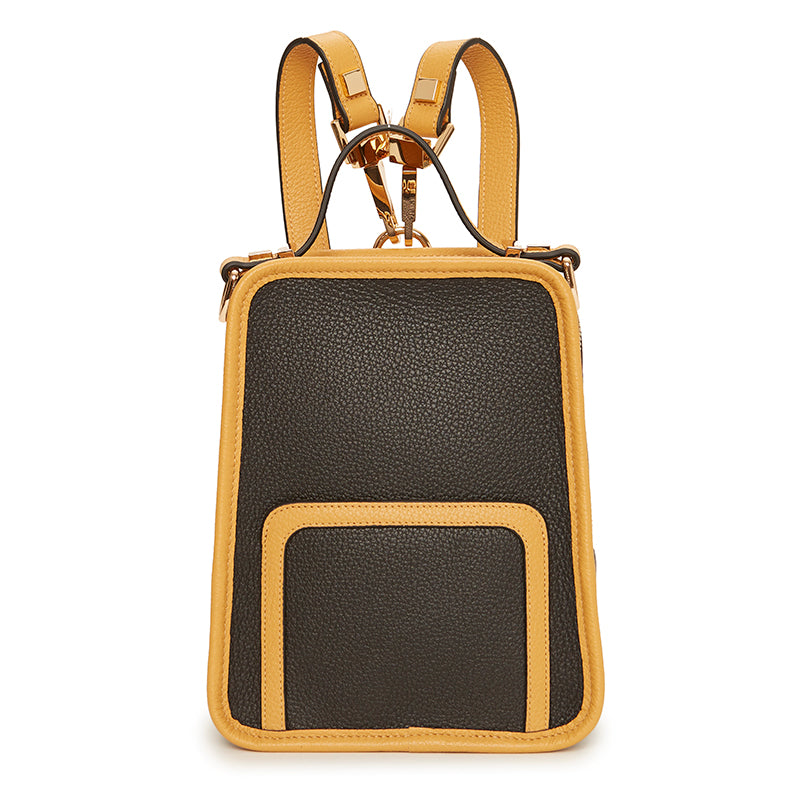 Margherita Mini Backpack Ebony/Dark Honey