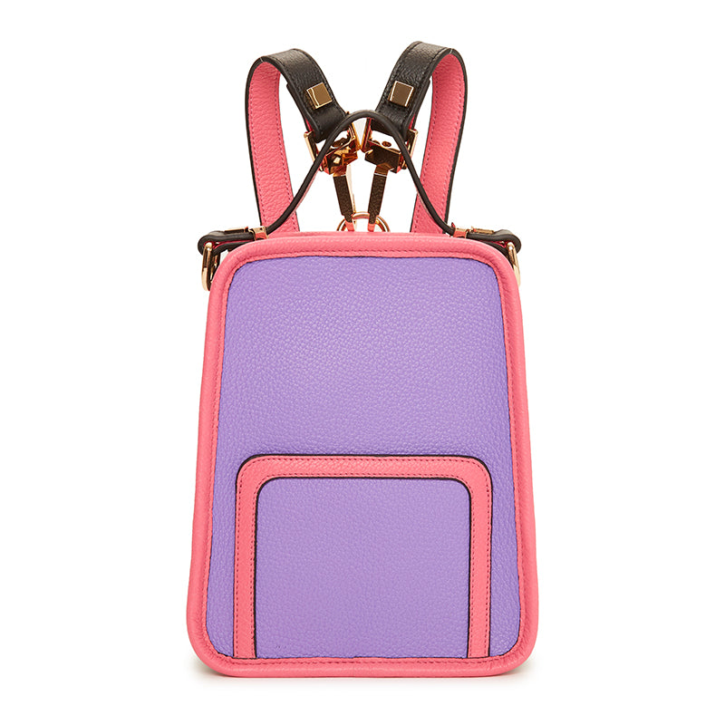 Margherita Mini Backpack Violet/Raspberry/Ebony
