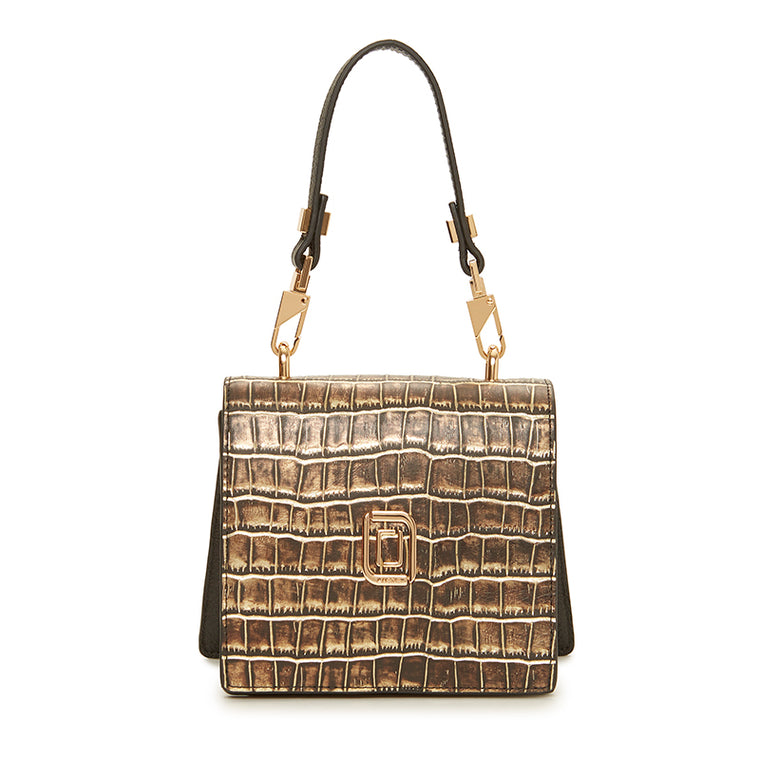 Marianna Micro Crossbody Natural Croc/Ebony