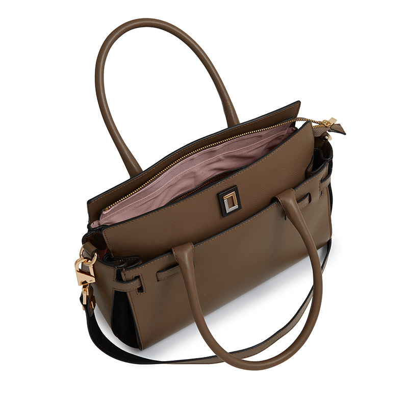 Margherita Satchel in Taupe