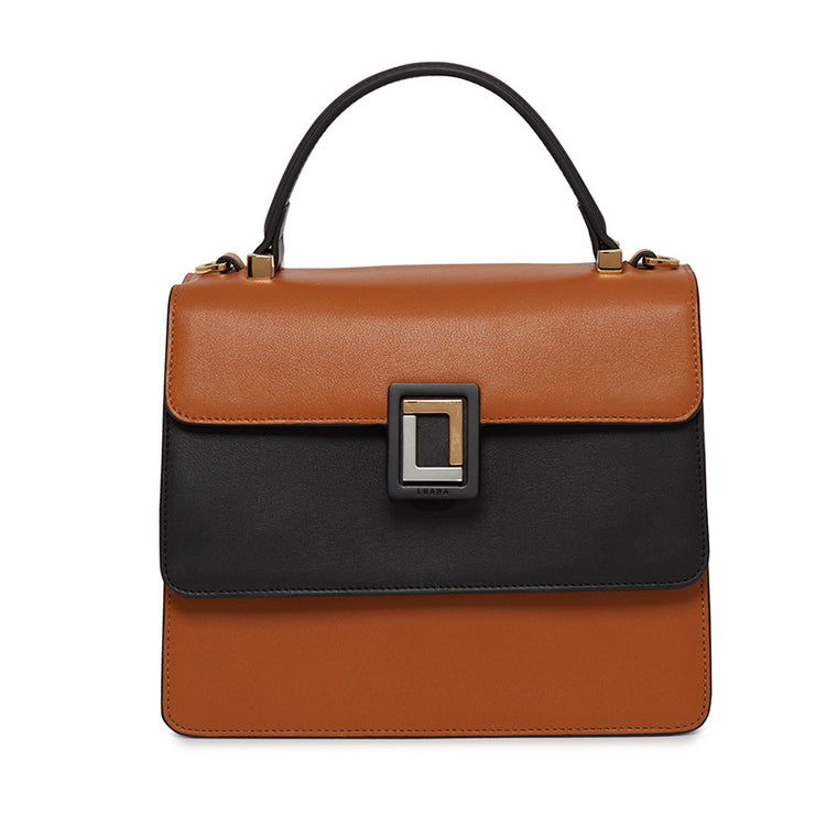 Maria Satchel in Chestnut/Ebony