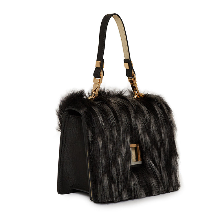 Marianna Crossbody in Ebony Fur