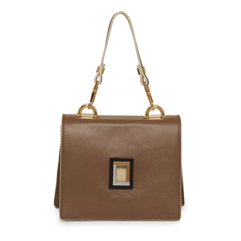 Marianna Crossbody in Taupe/Cream