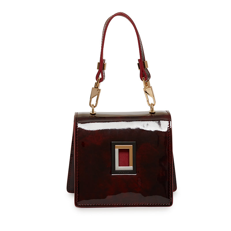 Marianna Micro Crossbody in Deep Burgundy