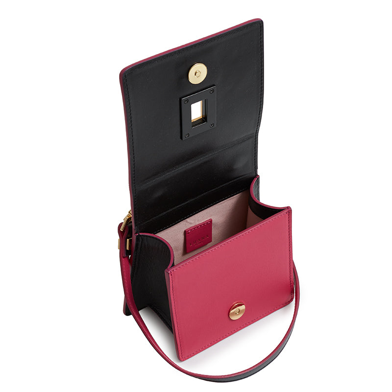 Marianna Crossbody in Ebony/Fuchsia