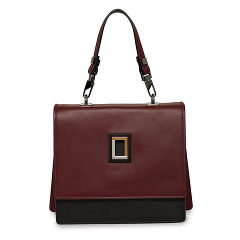 Marianna Satchel in Burgundy/Ebony