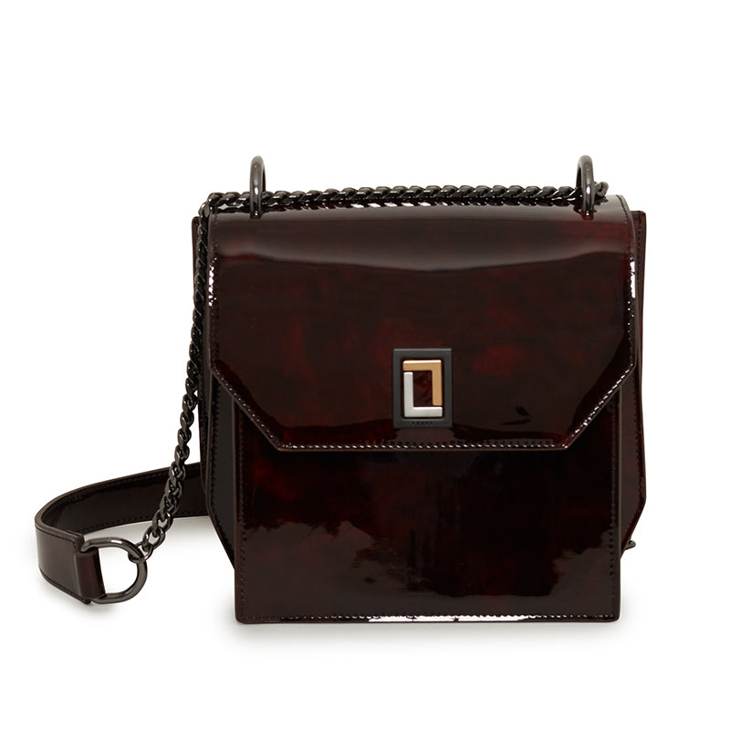 Origami Shoulder Bag in Deep Burgundy