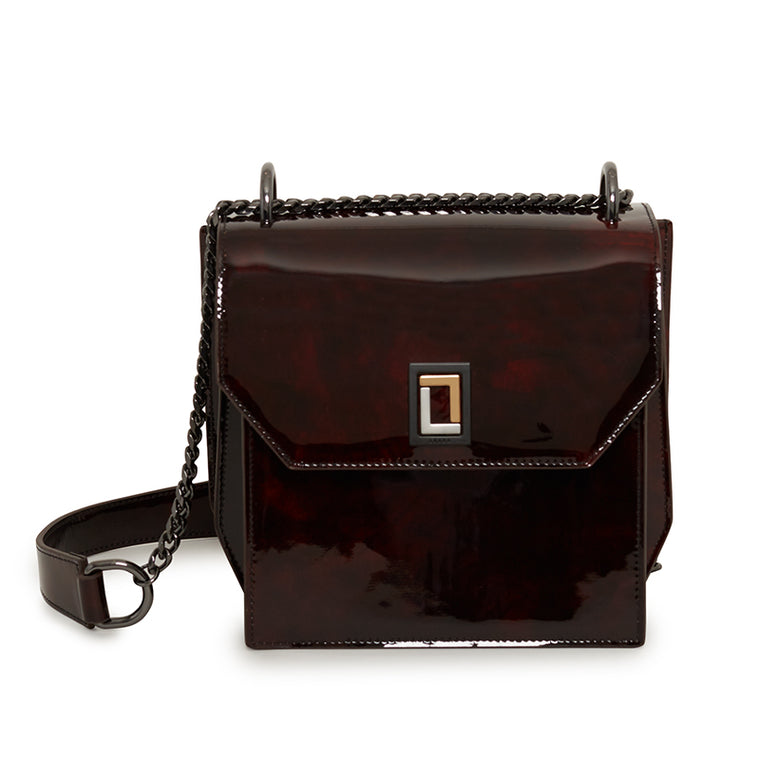 Origami Shoulder Bag in Burgundy