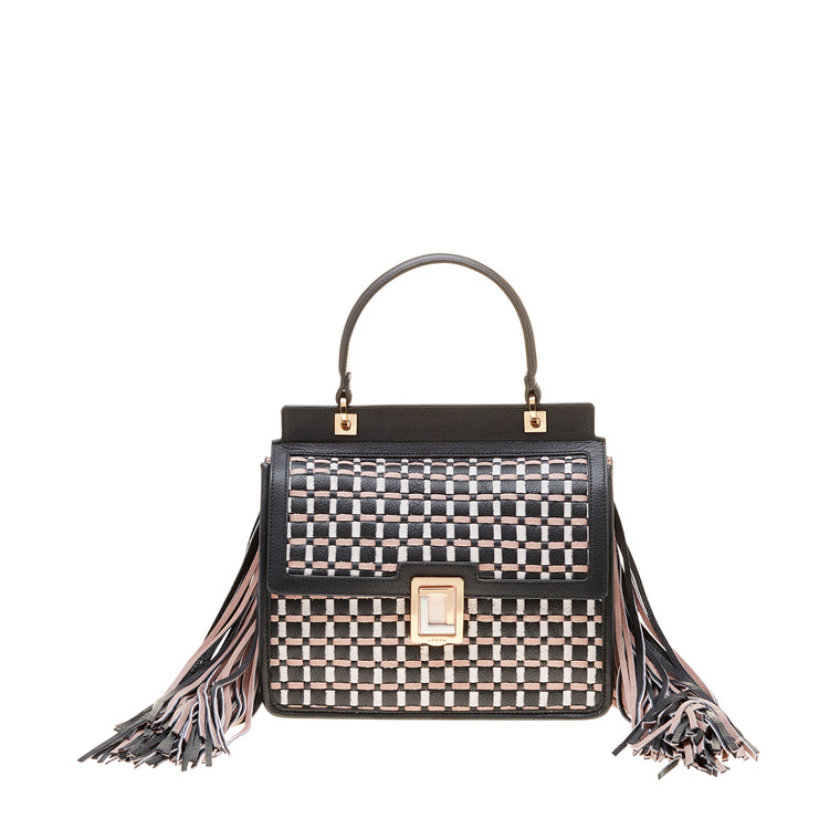 Rita Mini Satchel Rose Smoke/Black