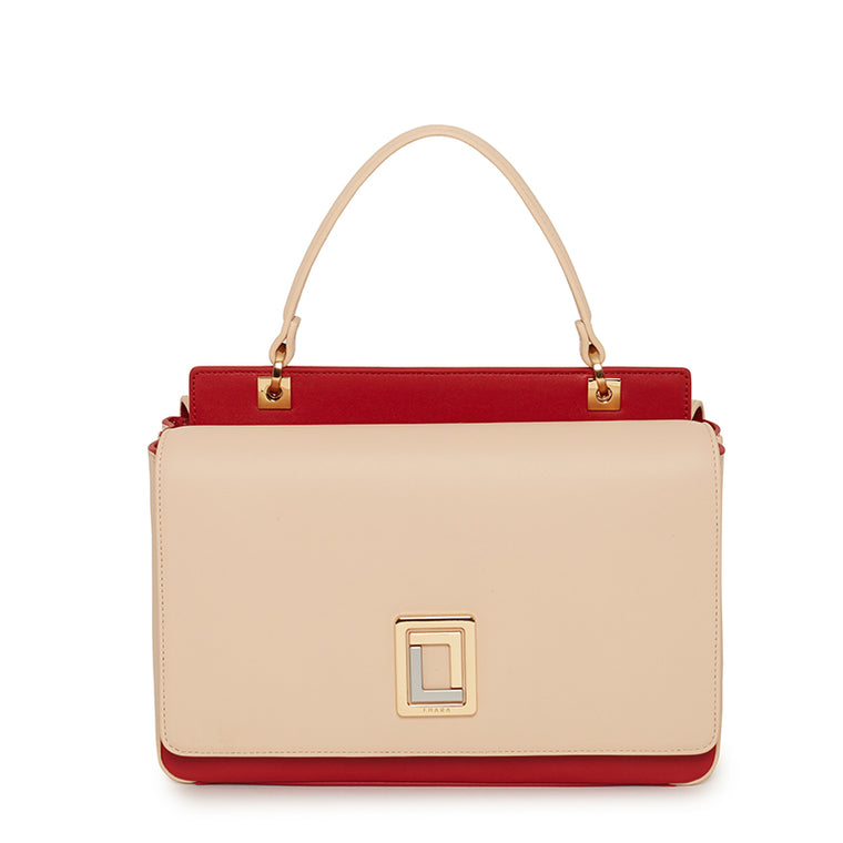 Sofia Mini Satchel Blush/Scarlet
