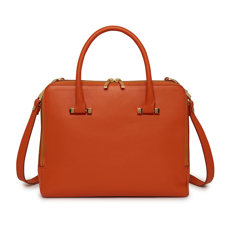Tiziana Satchel in Orange