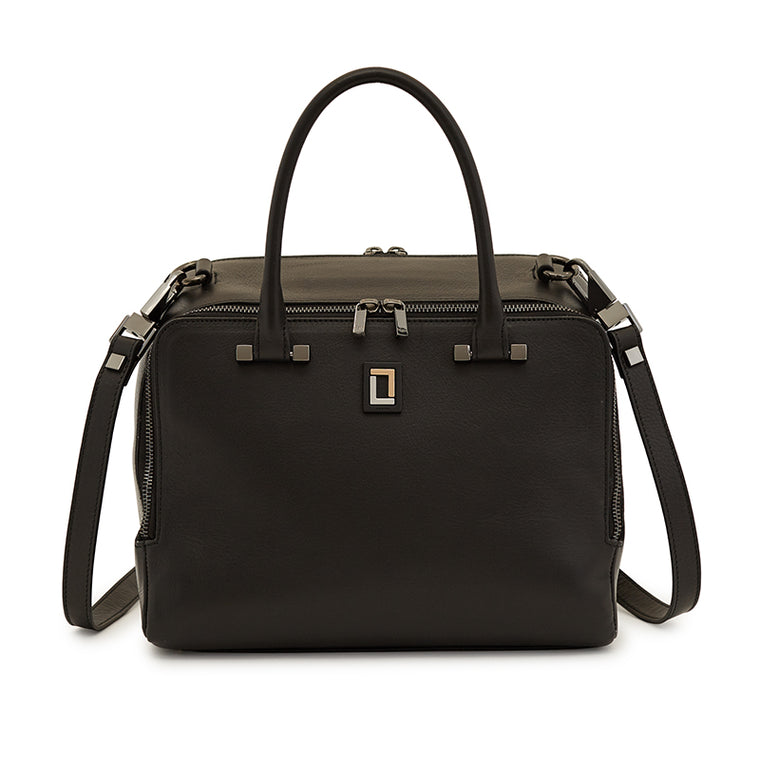 Tiziana Satchel in Ebony