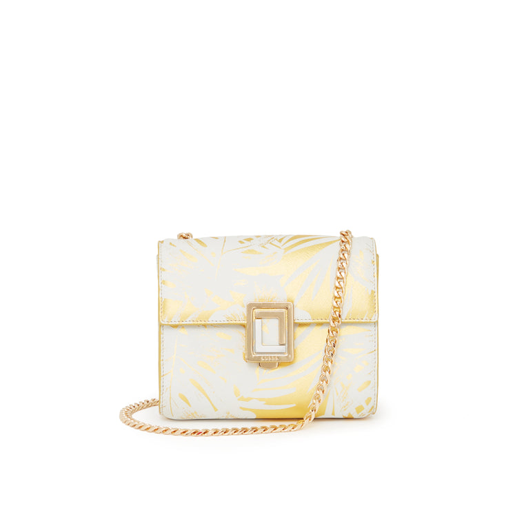 Marella Mini Shoulder Bag Gold Palm
