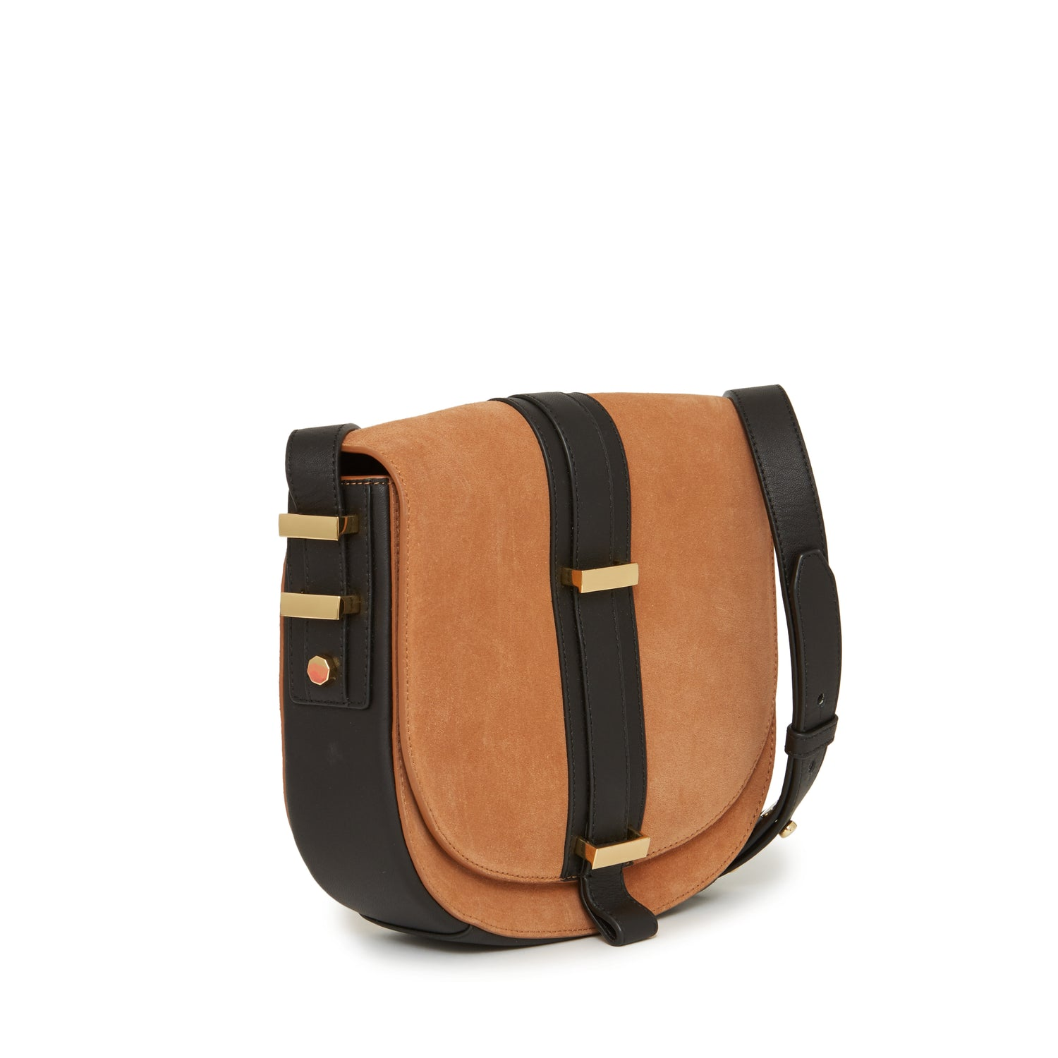 Marianne Saddle Bag Camel/Ebony