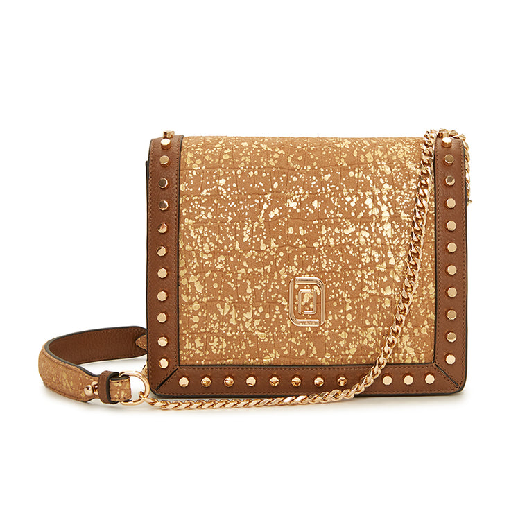 Mimi Shoulder Bag Nougat Croc/Nougat