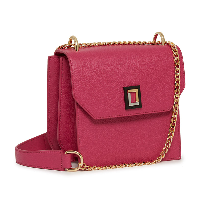 Origami Shoulder Bag in Fuchsia