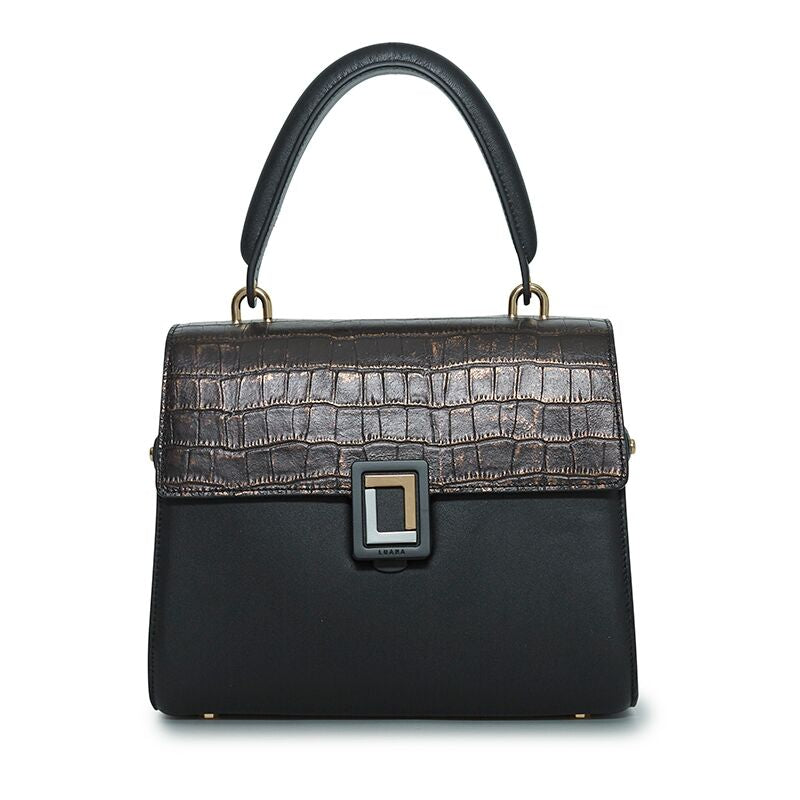 Paley Mini Satchel in Natural Croc/Ebony