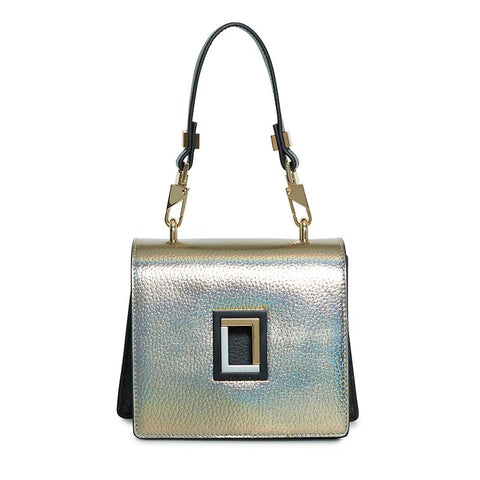 Marianna Micro Crossbody in Laser/Ebony