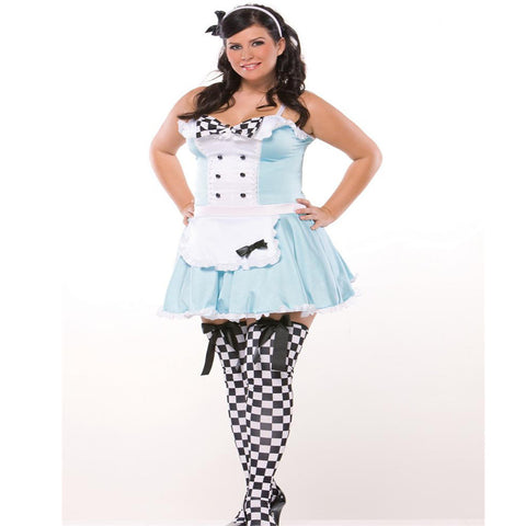 Sexy Alice Plus Womens Costume