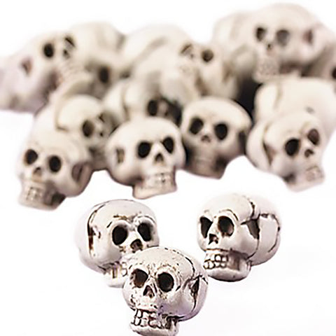 Bag of Mini Skulls 24pc. Plastic