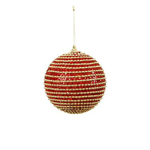 Bead Stripe Ball Ornament 6