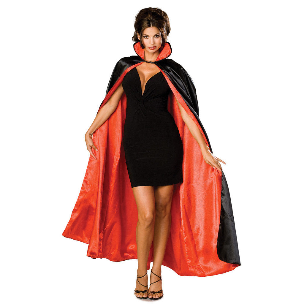 Reversible Satin Cape